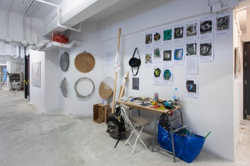 Go Hung's artwork at The Nate Pop Up Co-art Exhibition in 2019